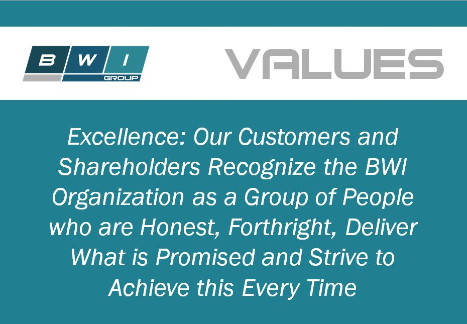 Tom Gold, Vice President of Operations, discusses BWI Group's Values Statement